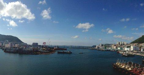 Der Hafen von Busan