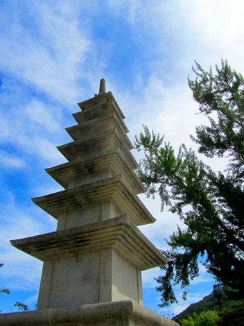 Steinerne Pagode in Beomeosa, Südkorea