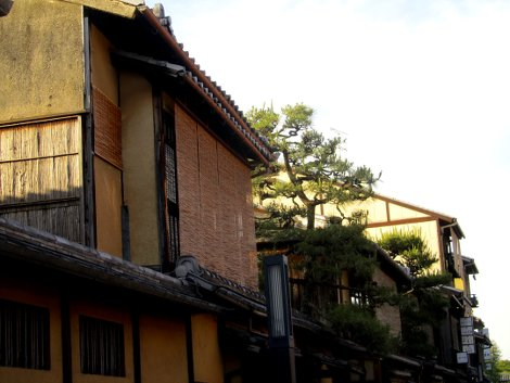 Traditionelle Holzhäuser in Gion, Kyoto