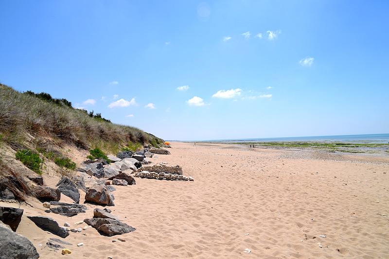 Der fast einsame Strand in der Nähe von Courade, Ile de Ré