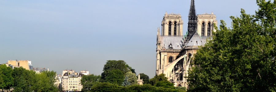 Paris-Impressionen: Blick auf Notre Dame,