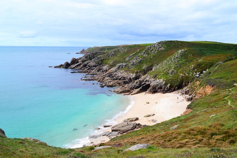 Die Küste von Cornwall nahe Land's End