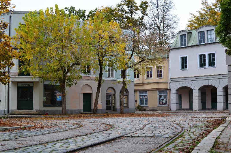 Das Straßen-Set der Bavaria Filmstadt
