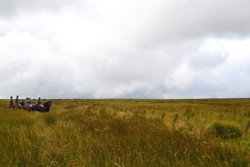 Reiter im Exmoor Nationalpark