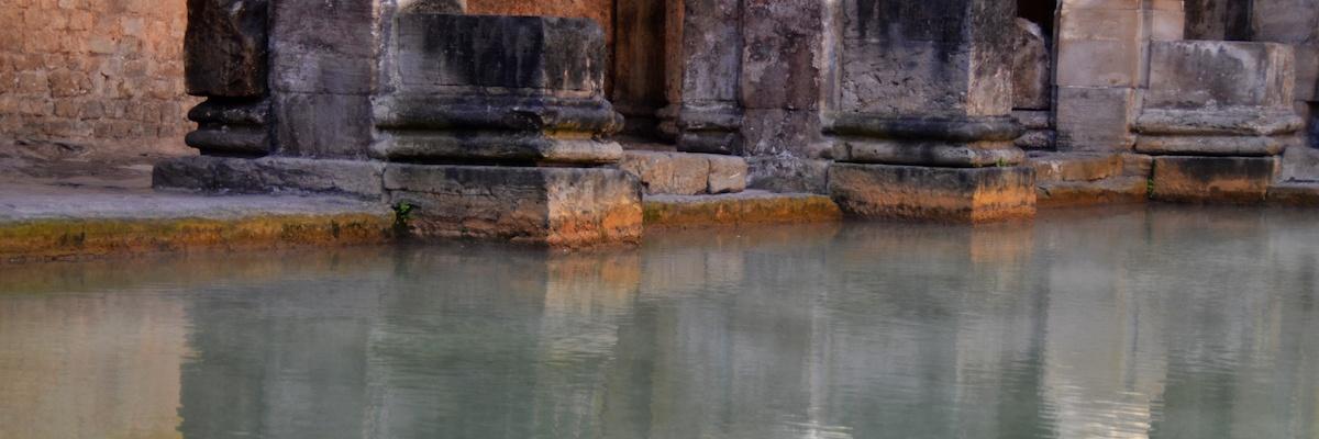 Die Ruinen der römischen Bäder von Bath