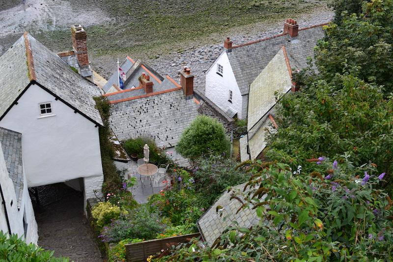 Blick auf die Dächer von Clovelly