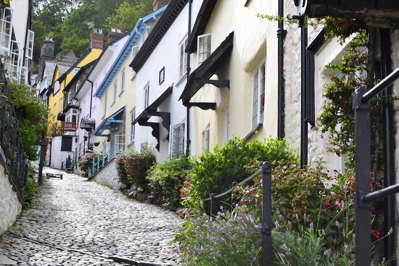 Die Straßen von Clovelly in Devon