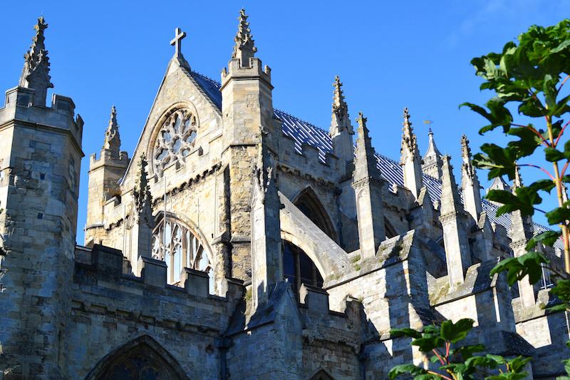 Die Kathedrale von Exeter in England
