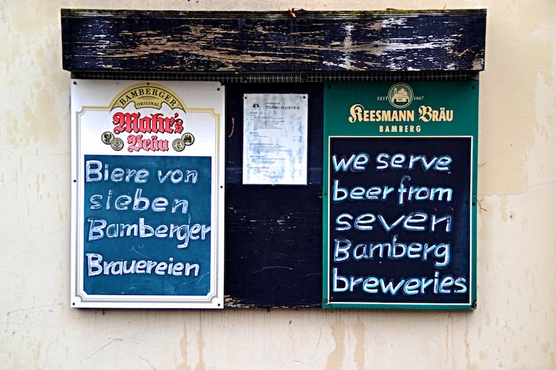 Das recht kleine Bamberg ist das zu Hause von ganzen sieben Brauereien