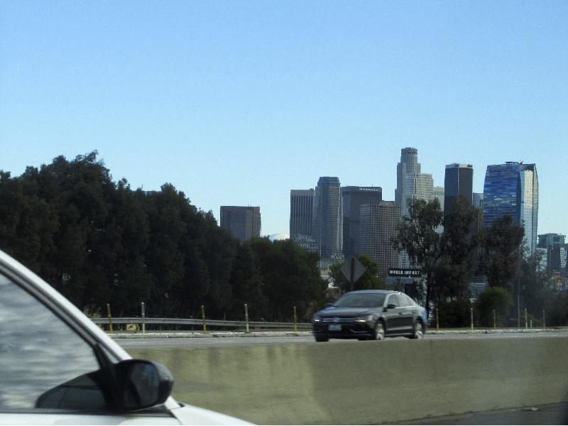 Auf dem Weg nach Downtown Los Angeles