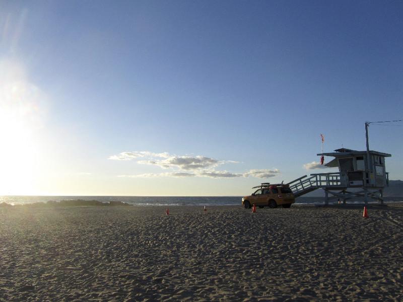 Venice Beach bei Sonnenuntergang