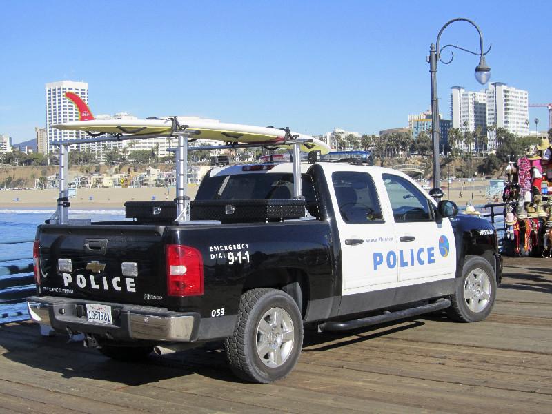 Die Polizei in Santa Monica