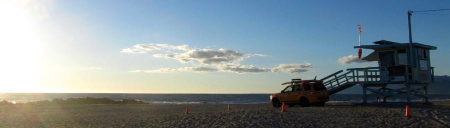 Der Strand von Venice Beach