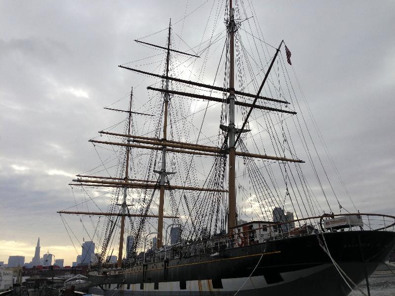 Museumsschiff im alten Hafen von San Francisco
