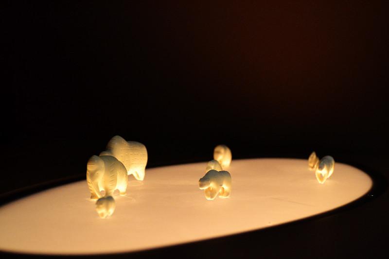 Repliken von Steinzeit-Figuren im Urzeitmuseum, Blaubeuren