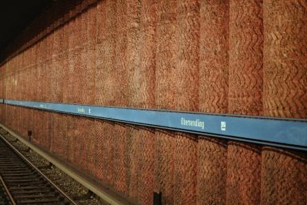 U3 in München: Obersendling Wand