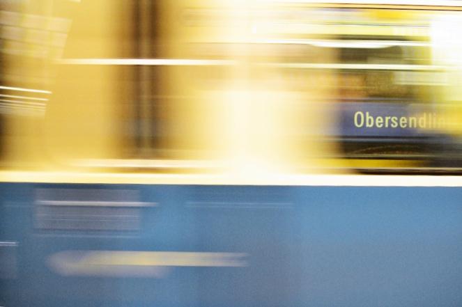 U3 in München: Obersendling Abfahrt