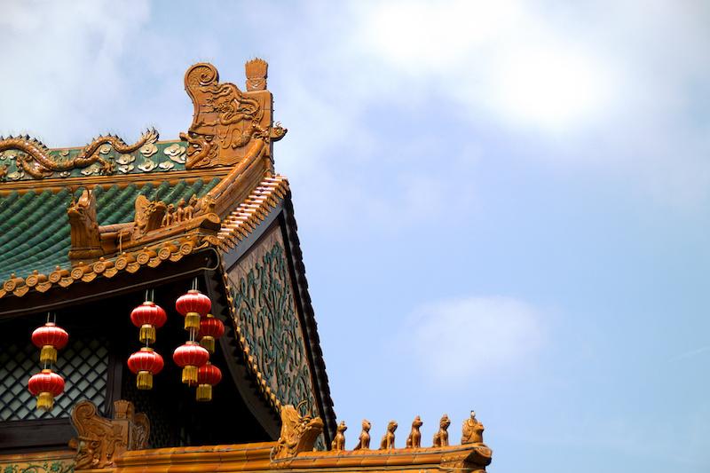 Chinesische Dächer im Phantasialand