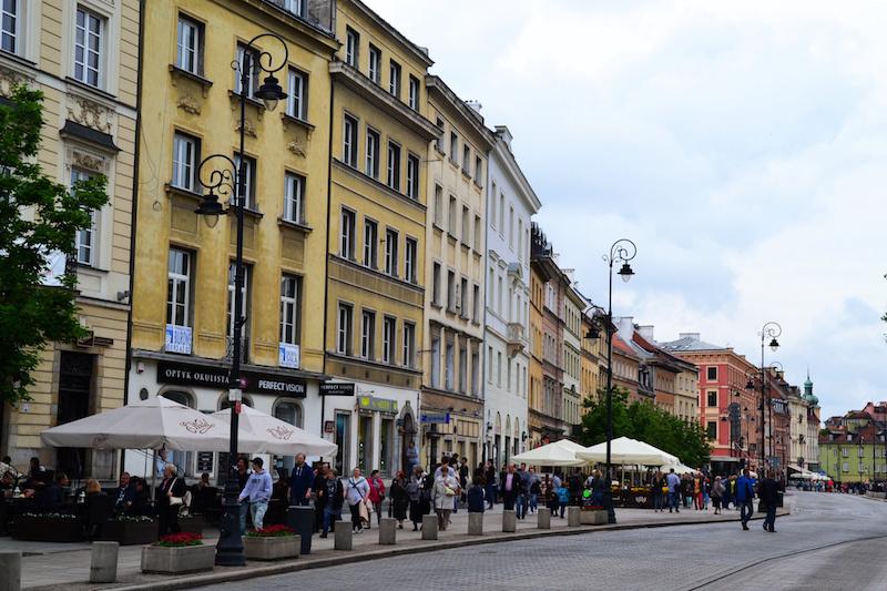 Straße in Warschaus Altstadt