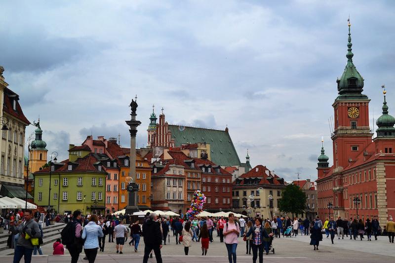 Der Hauptplatz in Warschaus Altstadt