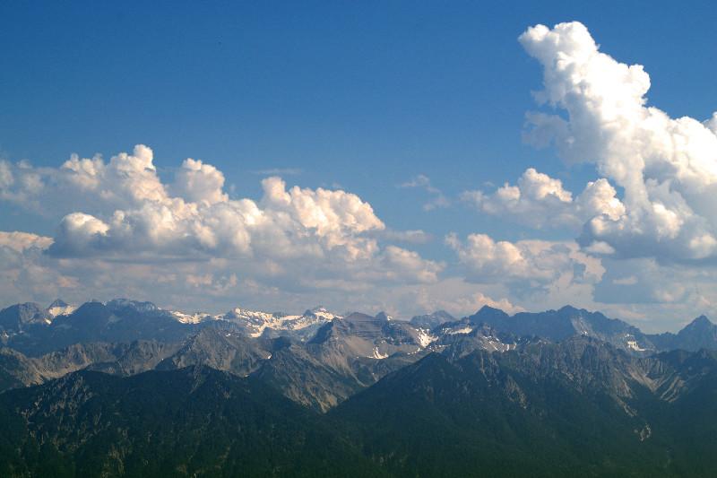 Bergpanorama vom Herzogstand aus gesehen