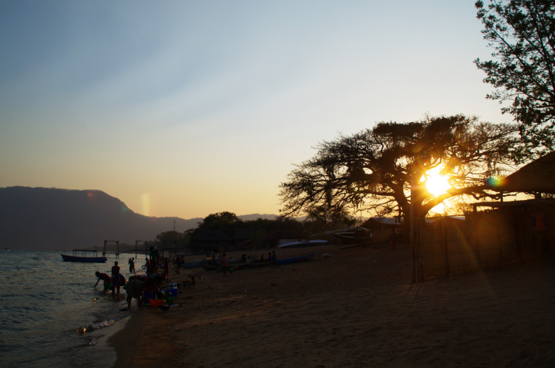 Früh morgens am Lake Malawi in Cape Maclear