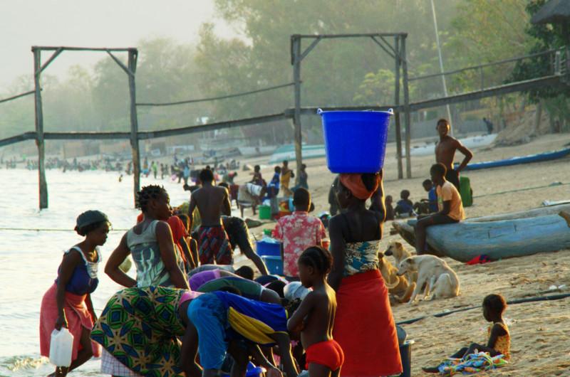 Die Einheimischen von Cape Maclear, Lake Malawi