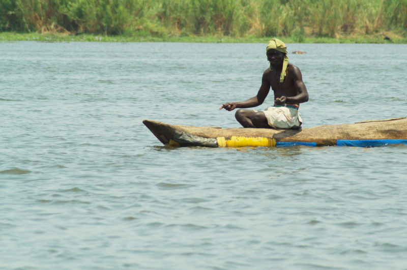 Der Fischer wildern im Liwonde Nationalpark, Malawi