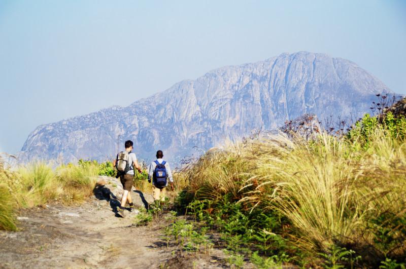 Wandern auf dem Mulanje, Malawi