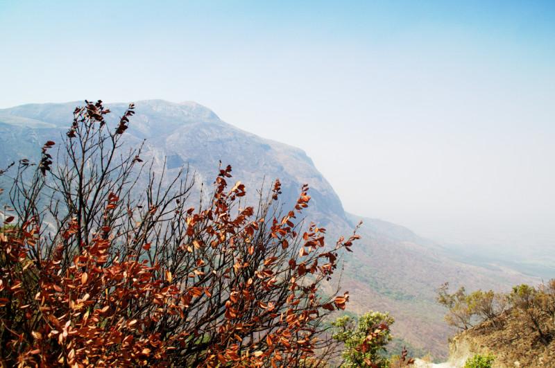 Ein letzter Blick vom Mulanje Massiv hinunter auf Malawi