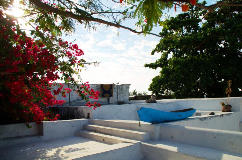Auf der Dachterasse von Ruby's auf Ilha de Moçambique