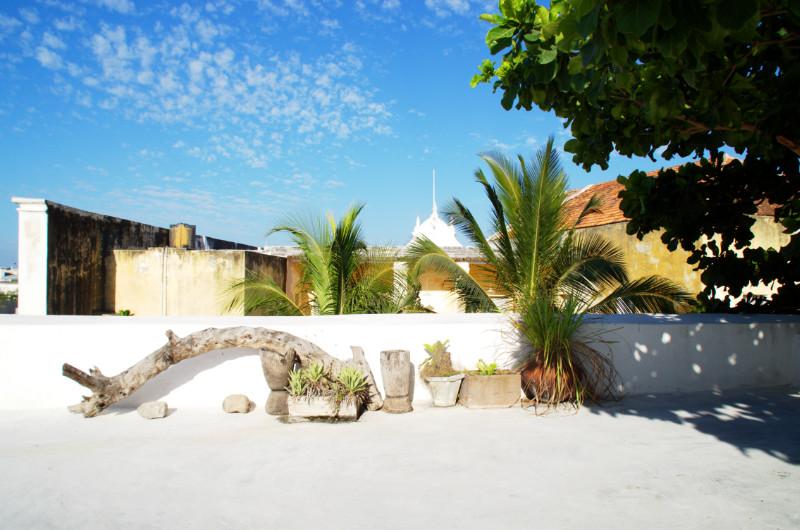Blick von der Dachterrasse von Ruby's auf Ilha de Moçambique