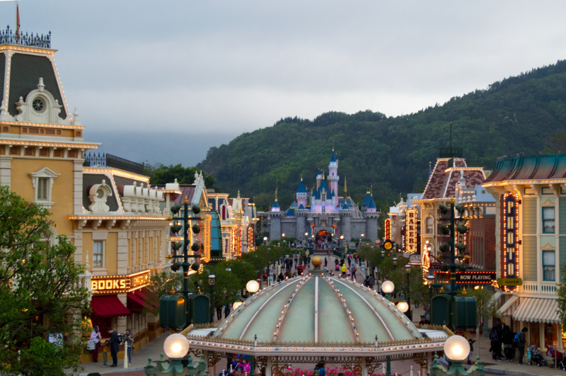 Main Street in Hong Kong Disneyland