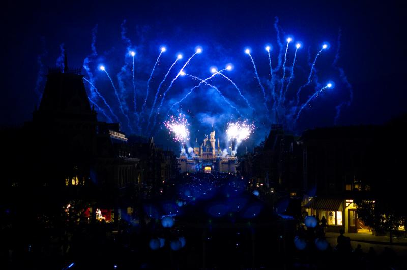 Feuerwerk in Hong Kong Disneyland