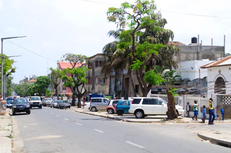 Wohngebiet in Maputo, Mosambik