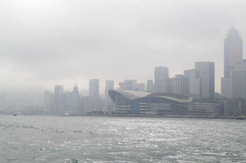 Hongkong: Central im Wolkendunst