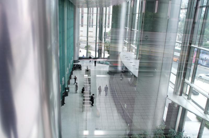 Hongkong: Lobby eines der Business-Hochhäuser
