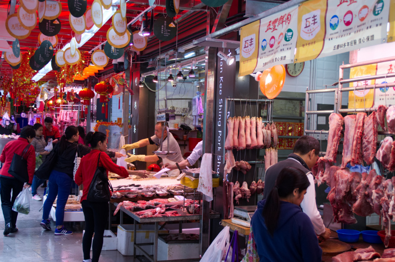 Hongkong: Metzger-Stände