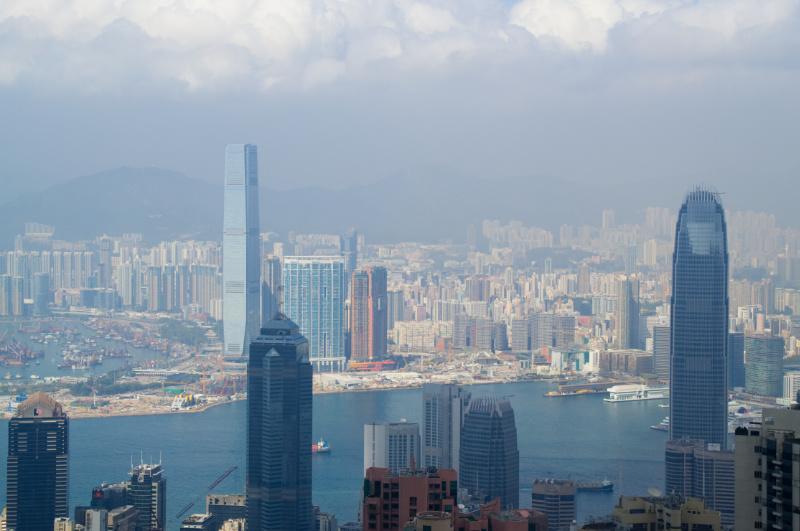 Hongkong: Blick auf Kowloon vom Victoria Peak