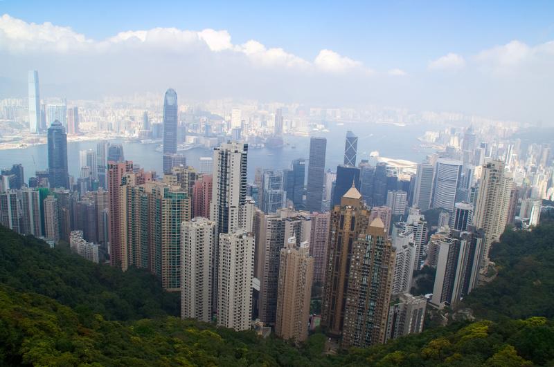 Hongkong: Blick vom Victoria Peak auf das Häusermeer