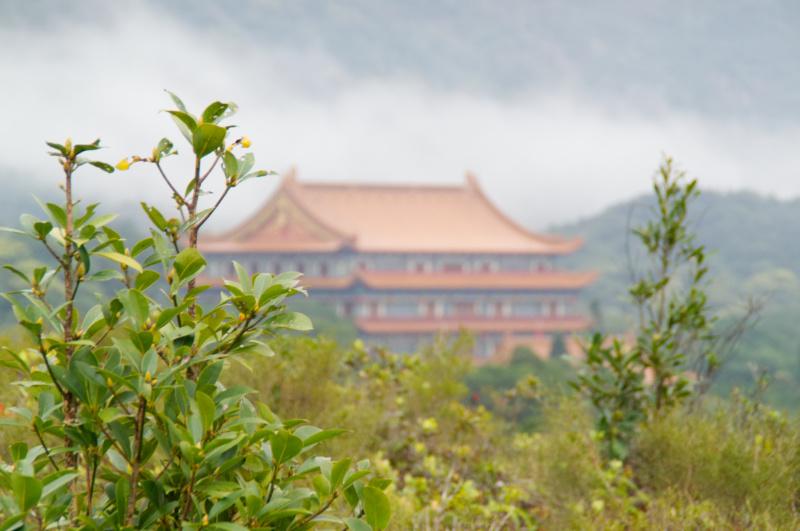 Hongkong: das Kloster neben dem großen Buddha