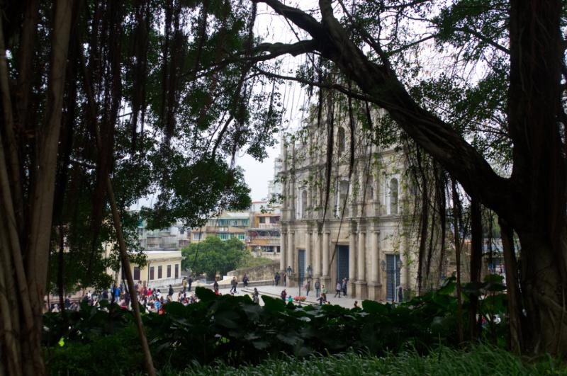 Macau: nur die Fassade blieb von der Kathedrale