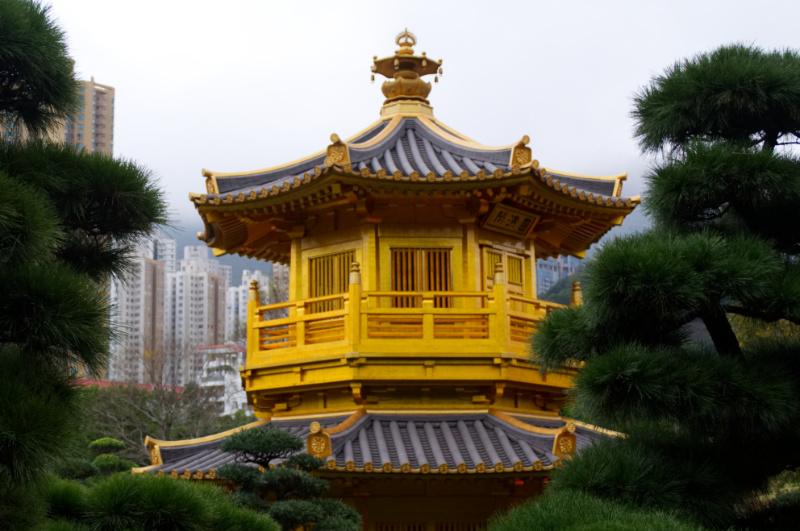 Hongkong: die Pagode im Nan Lian Garden its ein tolles Fotoobjekt!