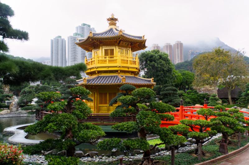 Hongkong: Die Goldene Pagode im Nan Lian Garden