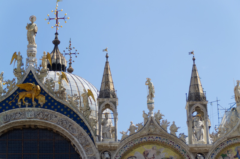 Venedig: Die Dächer des Markusdoms