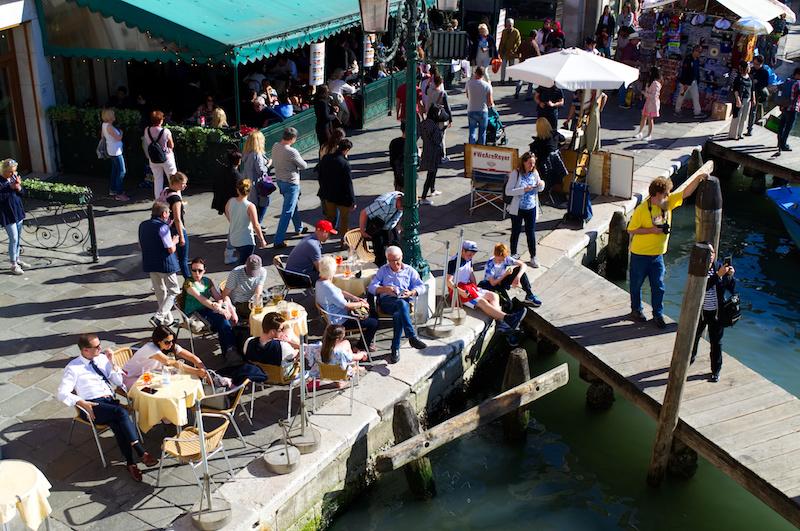 Venedig: Restaurants an der Rialto-Brücke