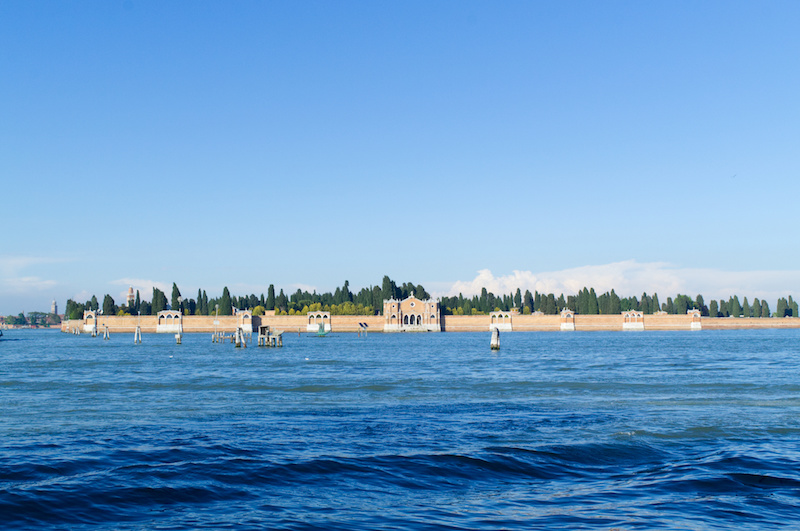 Venedig: Blick hinüber zur Friedhofsinsel