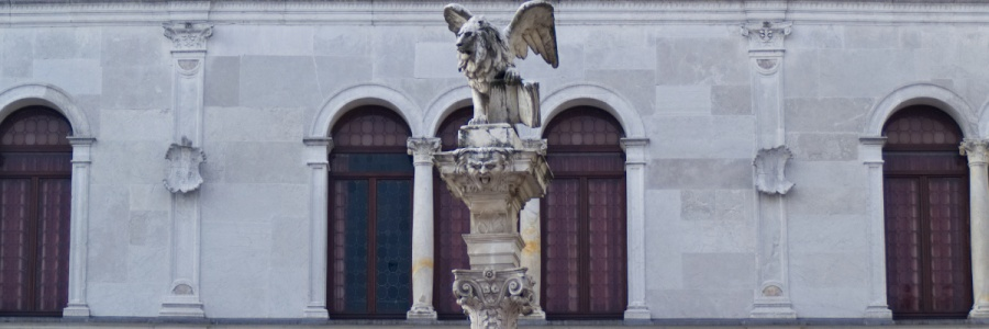 Padua: Venezianischer Löwe auf Säule