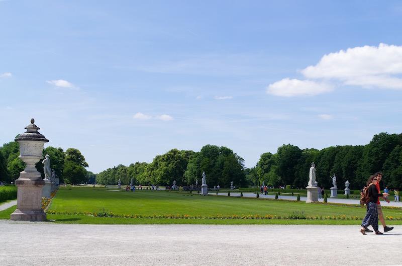 Der weitläufige Schlosspark von Nymphenburg
