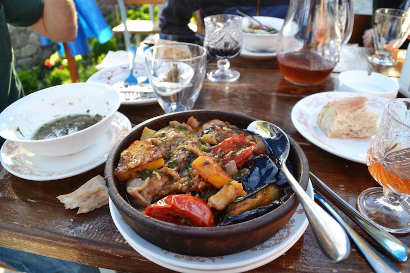 Abendessen in Sighnaghi